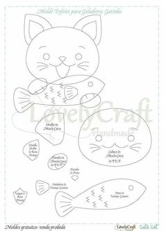 Felt Crafts Patterns, Applique Patterns, Applique Quilts, Cat Template, Quiet Book Templates, Felt Quiet Books, Cat Quilt, Cat Pattern, Felt Diy