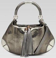 Gucci Indy Large Python Bag