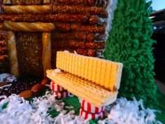 Christmas is Coming to Grand Rapids — Mid City Love Gingerbread House Ideas Graham Cracker Gingerbread House, Gingerbread House Designs, Gingerbread House Parties, Gingerbread Village, Christmas Gingerbread House, Christmas Sweets, Christmas Goodies, Christmas Baking, Gingerbread House Decorating Ideas