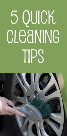 5 quick cleaning ideas that can help you keep your #car #clean for more than one car trip!