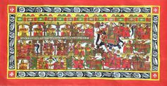 Mughal Paintings, Persian Miniatures, Rajasthani art and other fine Indian paintings for sale at the best value and selection. Mughal Paintings, Indian Paintings, Paintings For Sale, Phad Painting, Rajasthani Art, Gods And Goddesses, Deities, Handmade Art, Ethnic