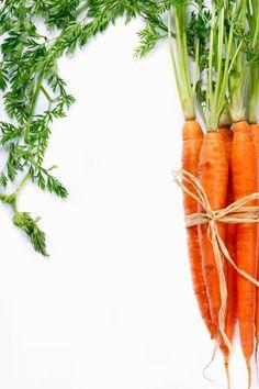 https://flic.kr/p/d73v41 | Carrots. | Bunch of ripe carrots on a white background.