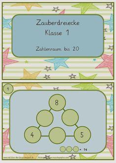 Zauberdreiecke im Zahlenraum bis 20