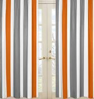 Sweet Jojo Designs This Stripe window curtain panel set will help complete the look of your Sweet Jojo Designs room. These window treatments instantly change the look and feel of any room, adding layers of warmth and style. Orange Curtains, Orange Bedding, Colorful Curtains, Window Treatment Store, Nursery Window Treatments, Rod Pocket Curtains, Panel Curtains, Curtain Panels, Teen Boy Bedding
