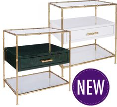 Gold Bamboo Side Table – 2 options