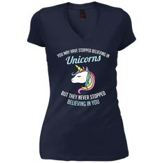 You May Have Stopped Believing In Unicorns Junior's Vintage Wash V-Neck T-Shirt Unicorn Shirt, Funny Unicorn, Cotton Viscose, Spun Cotton, Cute Tshirts, Boyfriend T Shirt, Unicorns, V Neck T Shirt, Shirt Designs