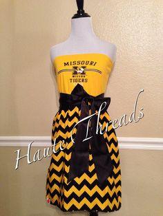 Missouri MIZZOU Tigers Football College Gameday Dress by hautethreadsboutique, $70.00
