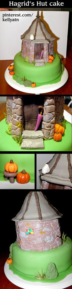 Hagrid's Hut (Harry Potter) cake by Kelly Story — butterbeer flavor, too!