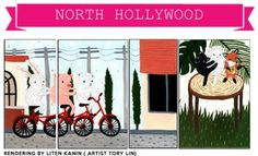 11:11 ACC produces NoHo Street Box Painting in L.A.'s NoHo Arts District in North Hollywood on the official NoHo Arts District Guide; www.nohoartsdistrict.com