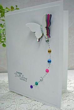 comment faire une carte d'anniversaire avec un joli papillon