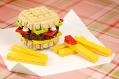 Lego burger and fries.