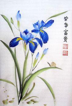 Вебинар по китайской живописи: ирис! — АРТ-Корпорация