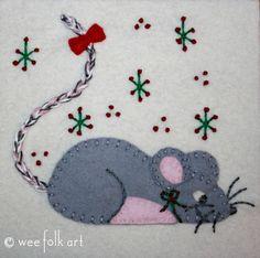 Little Mouse Applique Block | Wee Folk Art