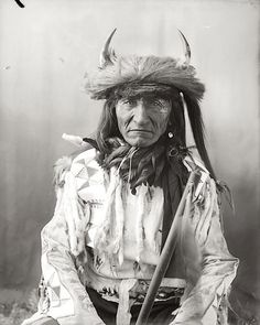 Short Bull. Crow. Early 1900s. Photo by Richard Throssel. Source - University of Wyoming, American Heritage Center: