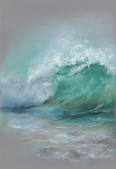 Seascape Paintings, Landscape Paintings, Sea Art, Pastel Art, Acrylic Art, Painting Inspiration, Watercolor Art, Greeting Card, Drawing