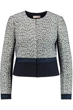 TORY BURCH Lucille Paneled Tweed Jacket. #toryburch #cloth #jacket