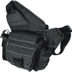 Utimate everyday carry (EDC) or diaper bag/man bag, originally meant for concealed carry weapon (gun). Tough nylon construction, with webbing to attach more gear/pouches. Concealed weapon pocket can vertically swallow a whole iPad WITH case! I use this every day. Just $28.