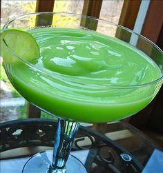 Frozen Margarita Slush Recipe ~ lemon sorbet, lime sorbet, fresh lime juice, tequila, triple sec
