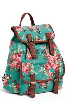 Carrying spring essentials in style | Floral backpack