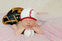 SALE Newborn or 03 Month Baseball Beanie by BriarRoseCraftyThing, $20.00 I want this