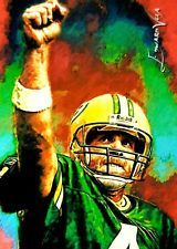 BRETT FAVRE GREEN PACKERS LIMITED ED #7/9 SKETCH CARD EDWARD VELA ART ACEO PRINT