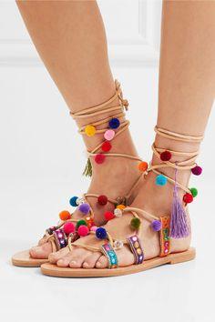 Mabu by Maria BK - Ida Embellished Leather Sandals - IT42