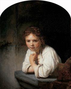 Girl in the Window via Rembrandt Van Rijn