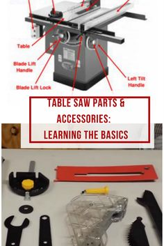 Are you looking to buy a new table saw?Then, it's important to educate yourself about the table saw parts names, accessories and functions! via @powertoolsninja