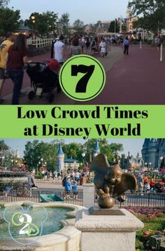 Wondering when the lowest crowd times are at Disney World? Read 7 low crowd times to visit Disney World throughout the year.
