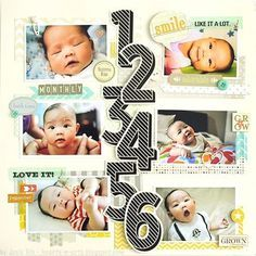 monthly baby scrapbook - Google Search