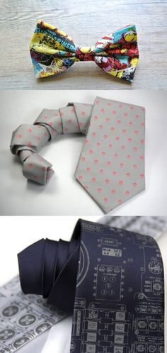 Snazz up your wardrobe with these nerdtastic ties.
