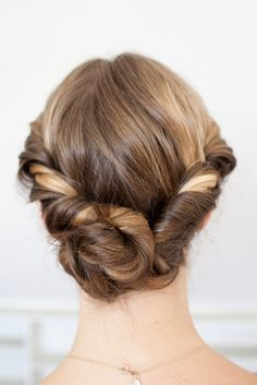 A low chignon will work with headbands, hats and earmuffs.