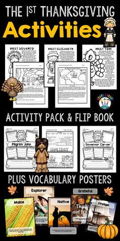 This Thanksgiving Activities Pack is something to be thankful for! Your students will love learning all about the history of the first Thanksgiving! This unit is a TOP 100 BEST SELLER and newly updated in 2016 now with even more activities in this pack!