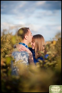 A sweet moment shared with warm sunshine and a bright blue sky :)   Engagement Session Portrait Ideas