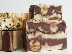 Coffee/coconut soap, I smell and taste like coffee and coconuts :)