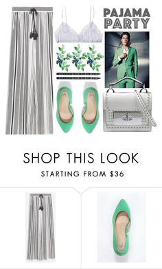 """PAJAMA"" by jiabao-krohn ❤ liked on Polyvore featuring Zara, Only Hearts, Anna Field, Marc Jacobs, Design Letters, TrickyTrend, maxiskirt, pastel and mint"