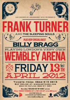 Ticket Purchased. I shall be there to see Frank Turner.