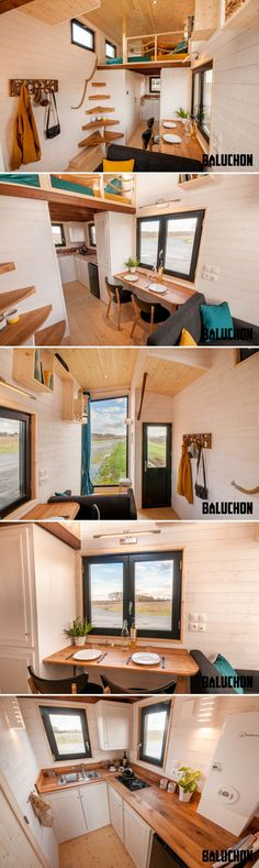 With its floor-to-ceiling living room window, the Utopia provides a great way to enjoy your surroundings from the comfort of home. The 6-meter tiny home was built by Baluchon and based on the Escapade model they built in 2016.