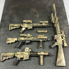 A few SBRs and one long barrel AR.