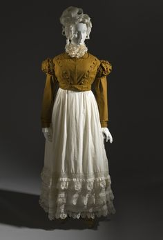 Woman's Spencer Jacket and Petticoat, c. 1815, French, LACMA Collections, (M.2007.211.15a-b)