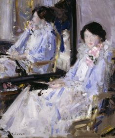 Girl in Blue - Francis Campbell Boileau Cadell 20th century