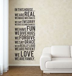 In this House.... Family Rules Decal  Ramblings of a Christian Mom is having an awesome giveaway, go check it out!