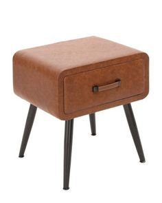 Faux Leather Side Table - $79.99