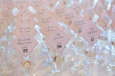 10 Creative Cocktail Hour Ideas to Swoon Over | escort cards design by Kate and Company | photography by Switzerfilm | via Love Inc. Mag
