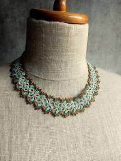 Necklace - bronze and turquoise