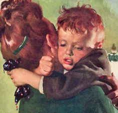 Safe in Mother's Arms ~ Harry Anderson, ca. 1940s