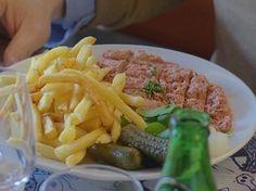 Filet americain, prato típico da Bélgica (Foto: Globo Repórter)