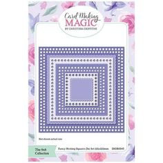 Card Making Magic Die Set Fancy Nesting Squares | 6x6 Collection by Christina Griffiths