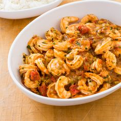 Our Shrimp Creole is a classic New Orleans dish made of sweet-savory shrimp poached in a spicy tomato sauce. Our secret? We add a homemade Creole spice mixture to a brown roux flavored with onion, green bell pepper, and celery.