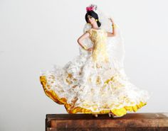 Vintage Flamenco Doll Spanish Doll with by LittleRetronome on Etsy, $14.00